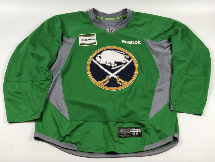 pretty nice 1a8f6 94682 Pro Stock Pro Return 58 Reebok Edge 3.0 Green Practice Jersey Buffalo Sabres