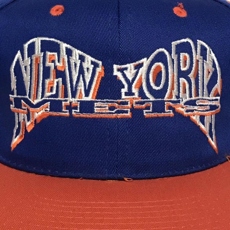 official photos 43959 b0b87 VINTAGE 90s New York Mets Mens Snapback Hat Cap MLB Baseball Drew Pearson  VTG