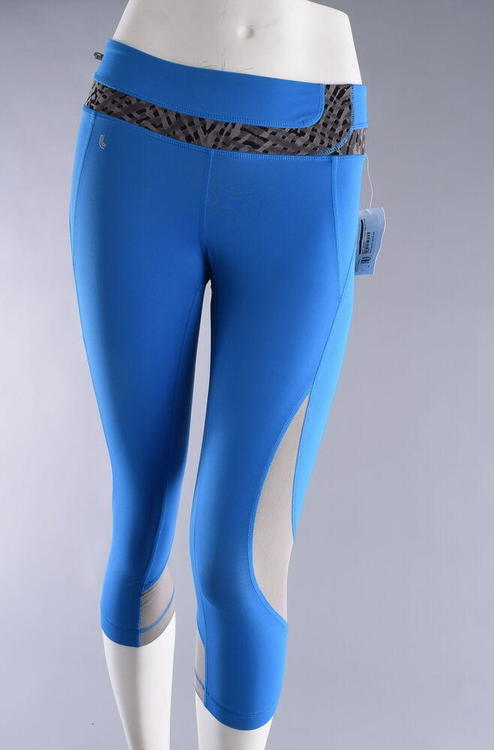 712744102083a Lole Run Capris Women's Small Electric Blue Running Gym Yoga Workout  Leggings