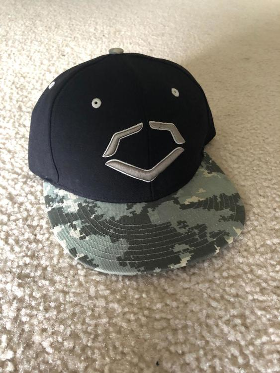 premium selection new arrival size 7 EvoShield Black and Camo hat   SOLD   Baseball Apparel & Jerseys ...