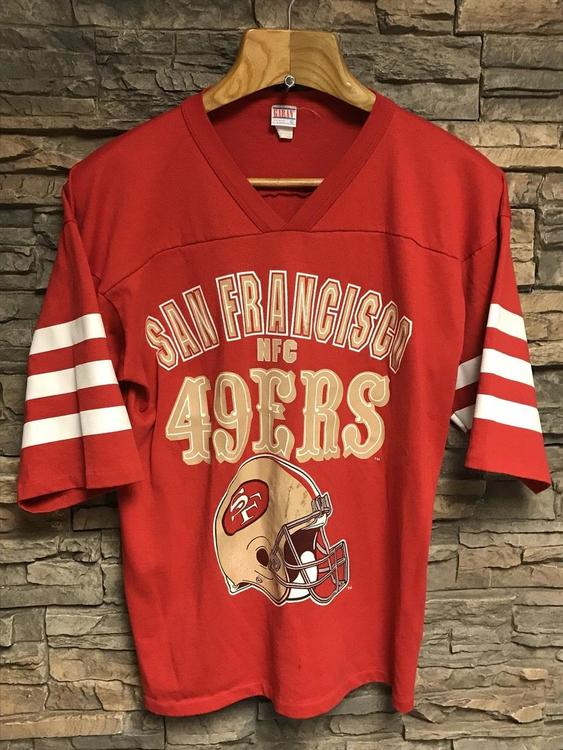 56f7efdc9f1 VINTAGE 90s San Francisco 49ers Jersey Shirt Mens Size XL Red NFL ...