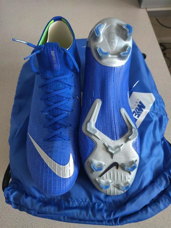 online store 5ab67 414c1 Nike Mercurial Superfly 6 Elite FG 360 ACC Flyknit Racer Blue AH7365-40    SOLD   Soccer Footwear   SidelineSwap