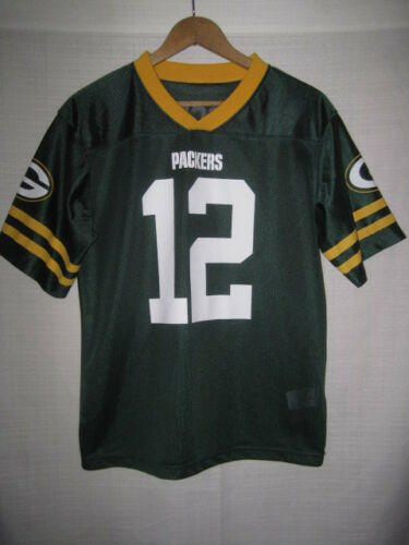 7edc847487649 Green Bay Packers Aaron Rodgers Football Jersey kids boys XL 14-16 NFL