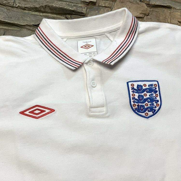 18dc0c1767c England National Soccer Team Umbro Collared Jersey Futbol Mens M L. Related  Items