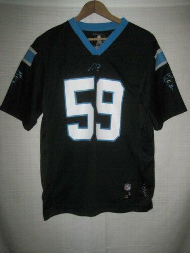 the best attitude f49b6 9485f Carolina Panthers Luke Kuechly Football Jersey kids boys L 14-16 black NFL