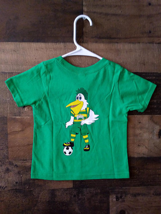 new usl tampa bay rowdies green mascot baby toddler team shirt soccer apparel jerseys new usl soccer tampa bay rowdies green mascot baby toddler team shirt sidelineswap