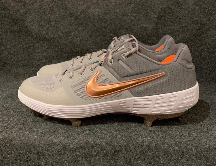 613eb83270fb Nike Alpha Huarache Elite 2 Low Baseball Cleats Grey Rose Gold AJ6873-009  Size 11.5
