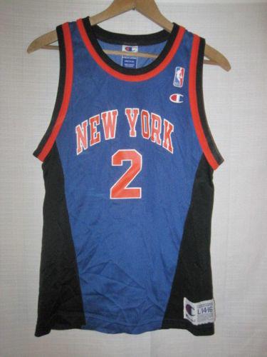 12dc5851a0a Vintage New York Knicks Larry Johnson basketball jersey kids boys L Champion  NBA