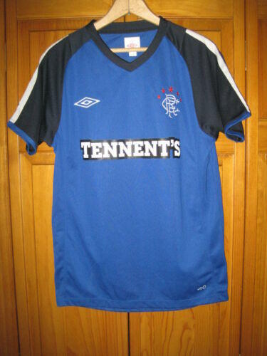 6767f84998e Umbro Glasglow Rangers soccer jersey mens S blue Tennents. Related Items