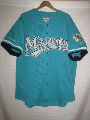 2814aca42eb Vintage Florida Marlins Majestic baseball jersey men s XL teal Miami  authentic. Related Items