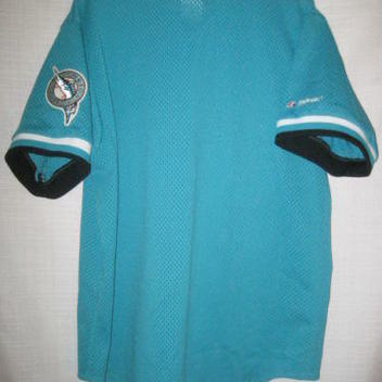 90707292576 Vintage Florida Marlins Majestic baseball jersey men s XL teal Miami  authentic