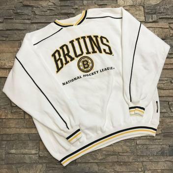 e3c319104 VTG Boston Bruins 1990s NHL Lee Sport Sweatshirt Mens L/XL | Hockey ...