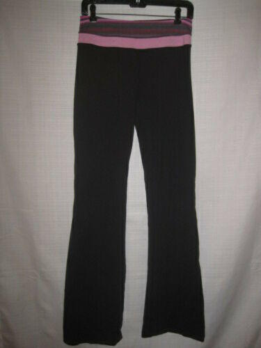 be7bc2a44a9086 Lululemon Fitness Pants Leggings women's 6 black pink waistband walking  workout. Related Items