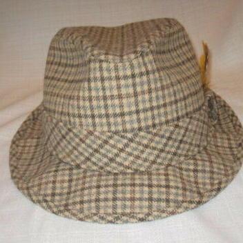 685e222a49961c Vintage Pendleton Pure Virgin Wool Plaid Fedora Dress Hat men's L ...