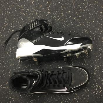 562582785 Nike Men s Alpha Huarache Gray Metallic Turf Shoes 923435-002 Size ...