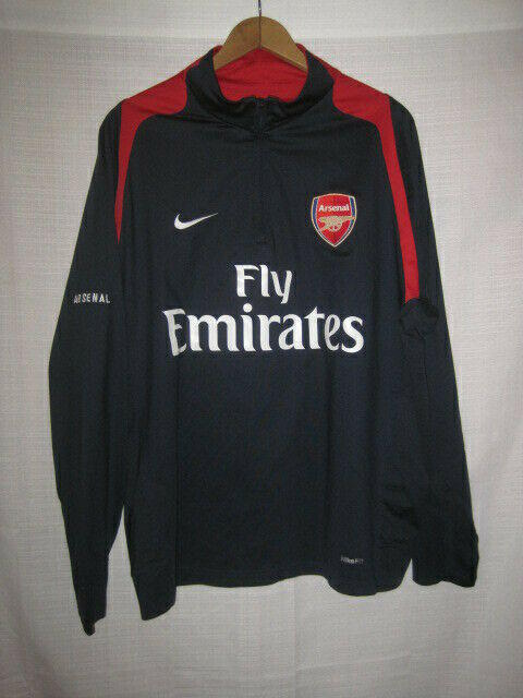 120dfbdd9ca Arsenal Nike Fit Dry Long Sleeve Soccer Shirt men s L blue Fly Emirates.  Related Items