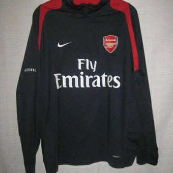 c34015ca9d0 Arsenal Nike Fit Dry Long Sleeve Soccer Shirt men s L blue Fly Emirates