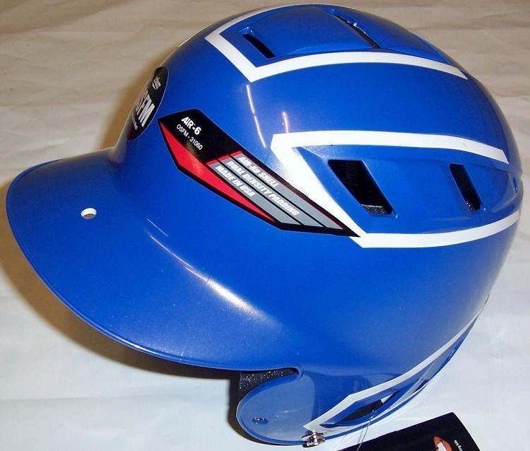 15057b05 Schutt Air-6 BB/SB Batters Helmet OSFM Royal Blue/White. Related Items