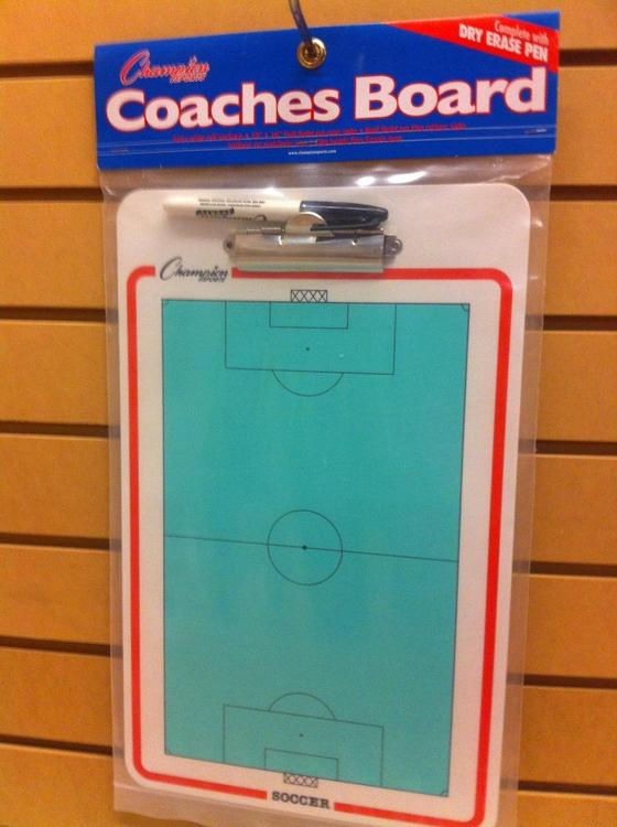 Champion Sports Dry-Erase Soccer Clipboard CBSB Coaches' & Referees' Gear