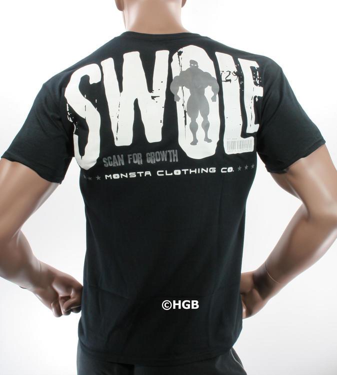 1537a7e03d16 Monsta Clothing Mens Graphic Tee Bodybuilding Wear SWOLE SIZE XL T Shirt  Gym wear New
