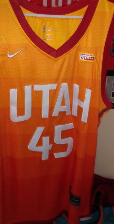 new styles a7166 b1937 Utah Jazz Donavan Mitchell CITY EDITION