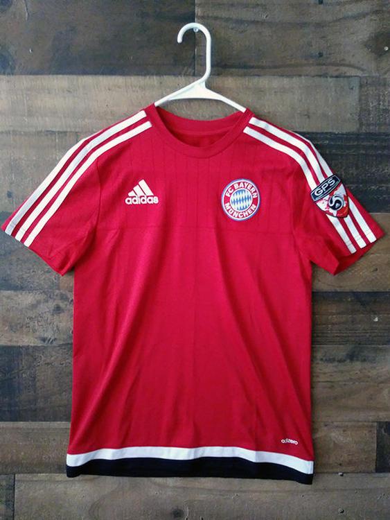 free shipping cbeb9 56465 Adidas Adizero FC BAYERN MUNCHEN Red Polyester Global Premier Soccer Jersey