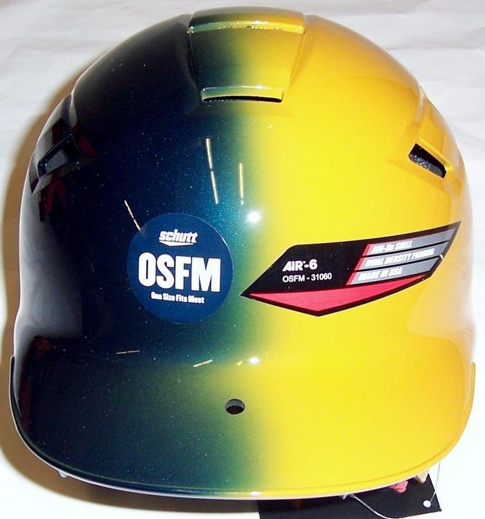 dfa4552b Schutt Air-6 BB/SB Batters Helmet OSFM Gold/Navy | Baseball Batter's ...