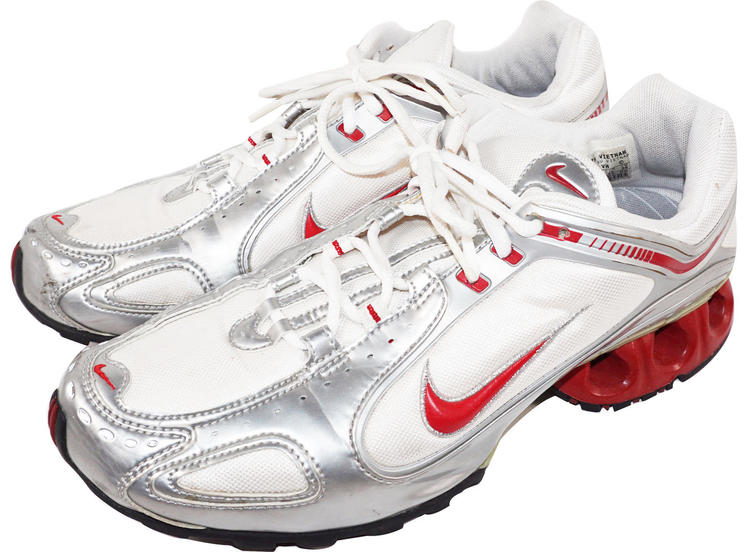 a96b73a4e933 Nike IMPAX WOMENS US SIZE 11 - RUNNING SHOES 312098-162 WHITE SILVER RED  2005