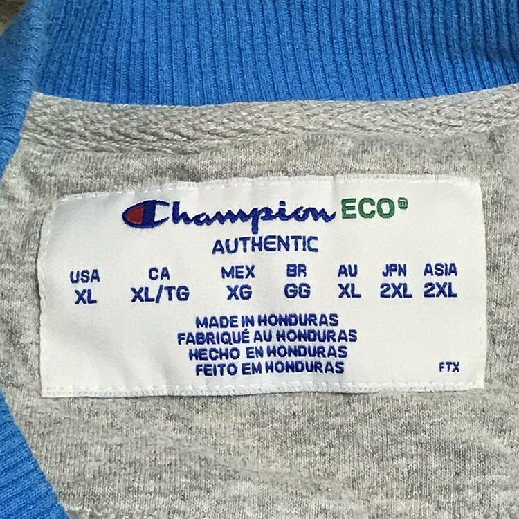 2f311e37 Champion Eco Crewneck Sweatshirt Solid Blue Plain Logo Streetwear Casual  Mens XL   Apparel Sweatshirts & Hoodies   SidelineSwap