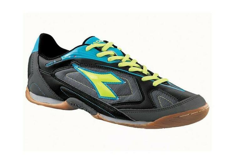 af66cc0f1 Diadora Quinto III ID Mens Soccer Shoes Size 8 Black/Silver/Blue - NEW