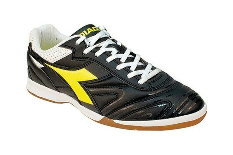 cc1a8ce5202d1 Diadora Italica R ID Mens Turf Soccer Shoes Size 8 Black/Yellow/White - NEW