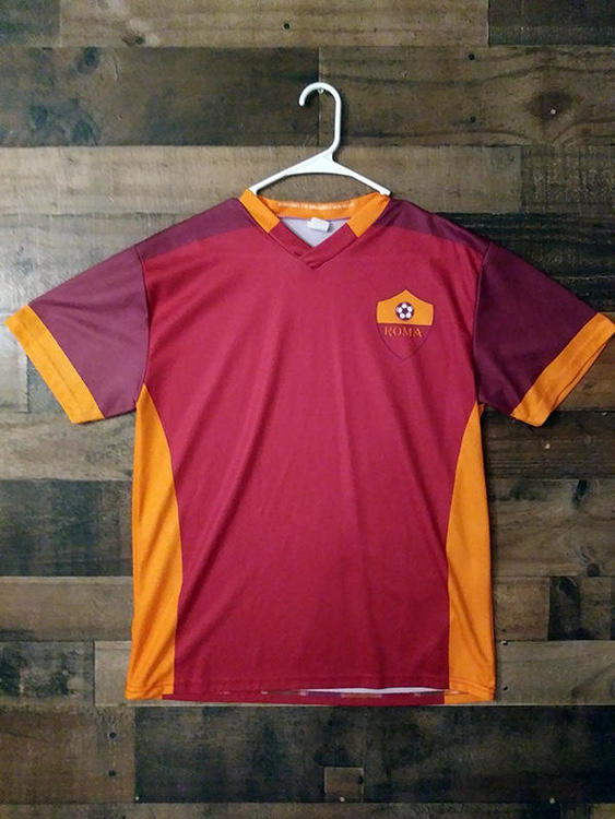 new product e1e89 c83c1 New Serie A Soccer AS ROMA Rome Italy #11 Mohamed Salah Polyester Player  Jersey