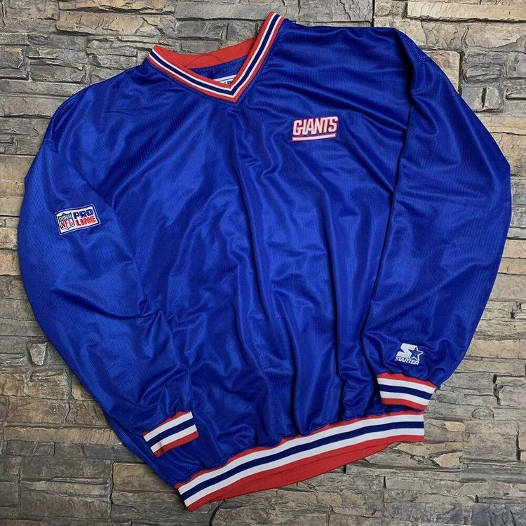 0a7b076aa84 VTG New York Giants Starter Pro Line Pullover 1990s NFL Mens L/XL ...