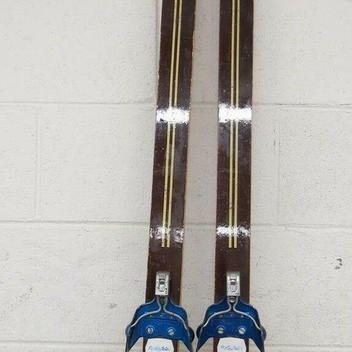 Vintage Silva 210cm Nordic Wooden Cross Country Skis Rottefella 3