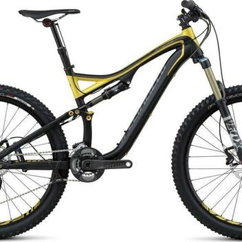 1cdd2fc4101 Specialized 2013 Stumpjumper FSR Elite 26 Medium Black/Gold New Old ...