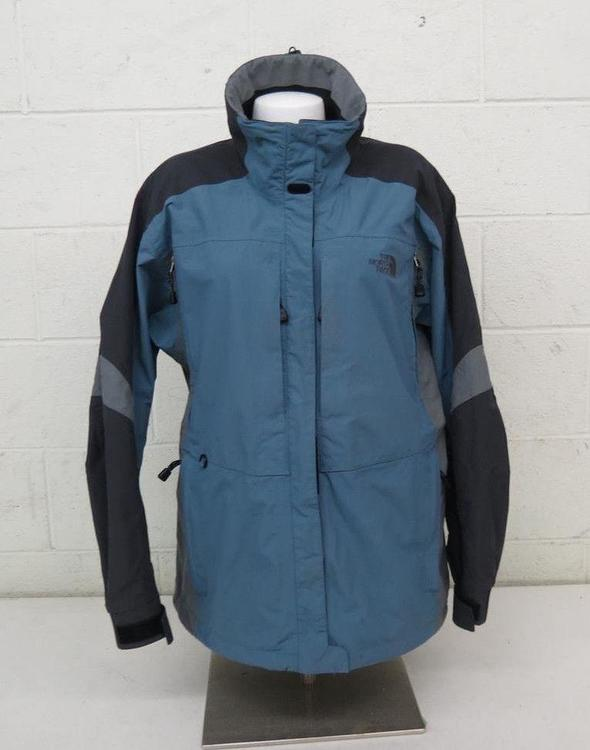 65e023505 The North Face HyVent High-Quality Blue & Gray Waterproof Shell Jacket  Women's L