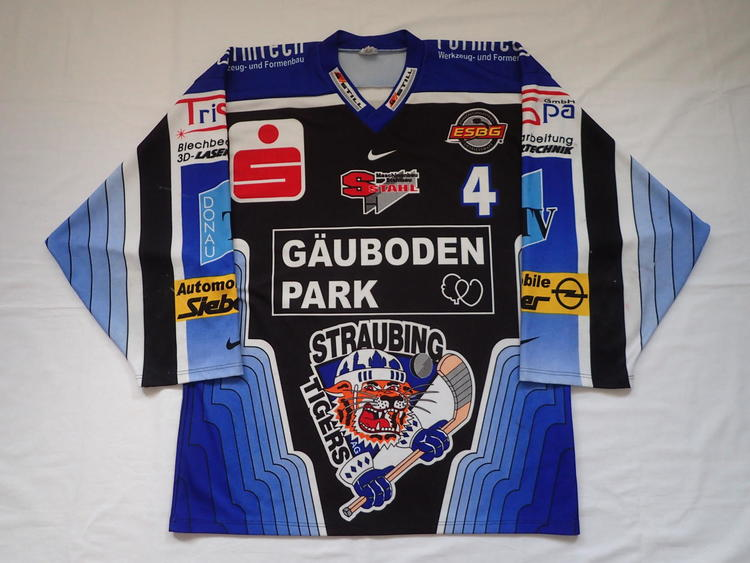 detailed look 1e8de d5267 Straubing Tigers Game Worn DEL Hockey Jersey Pro Stock Player game
