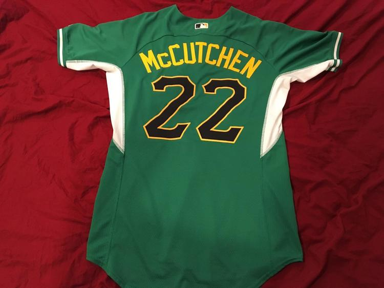 low priced 12967 6e382 Pittsburgh Pirates #22 Andrew McCutchen St Patrick's Day Green MLB Spring  Training Jersey