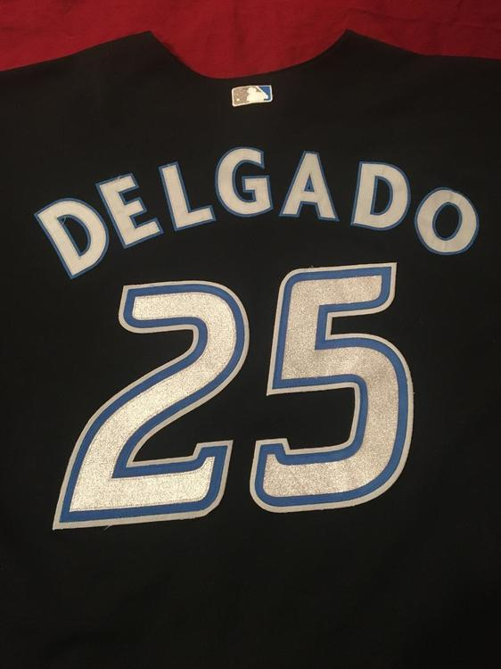 on sale 60fbd 5174a Carlos Delgado #25 Black Toronto Blue Jays MLB Baseball Jersey Size 56 -  Vintage Pre-Owned Used