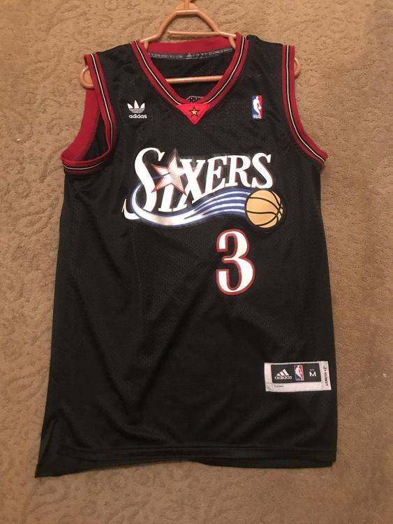 quality design 111a3 c4017 Authentic Allen Iverson Jersey Men's Medium