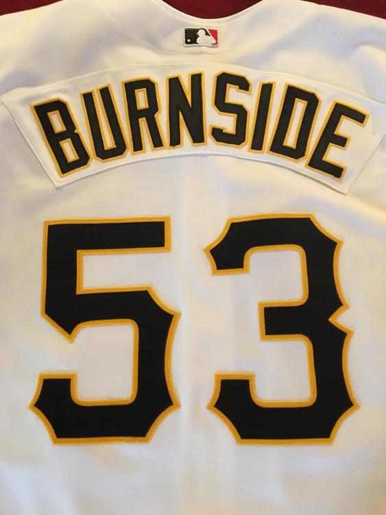 7222daf51 Rawlings 2001 Adrian Burnside Pittsburgh Pirates  53 Game Used Worn ...