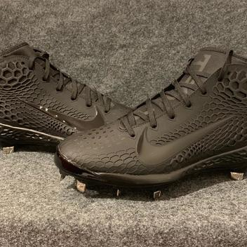 aecf2b0c8e662 NEW Nike Force Zoom Trout 5 Baseball Cleats Triple Black AH3373-002 Size 10.  Related Items