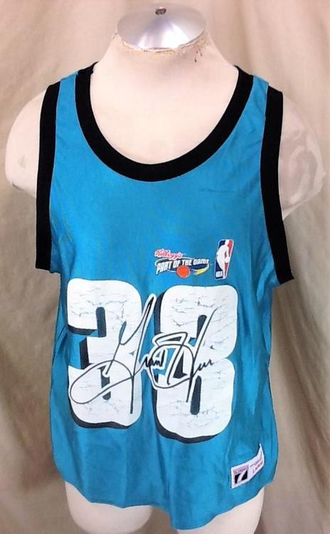 best loved 3ee01 a5b08 Vintage 90's Logo 7 Grant Hill #33 (Large/Short Length) Kellogg's Promo  Jersey