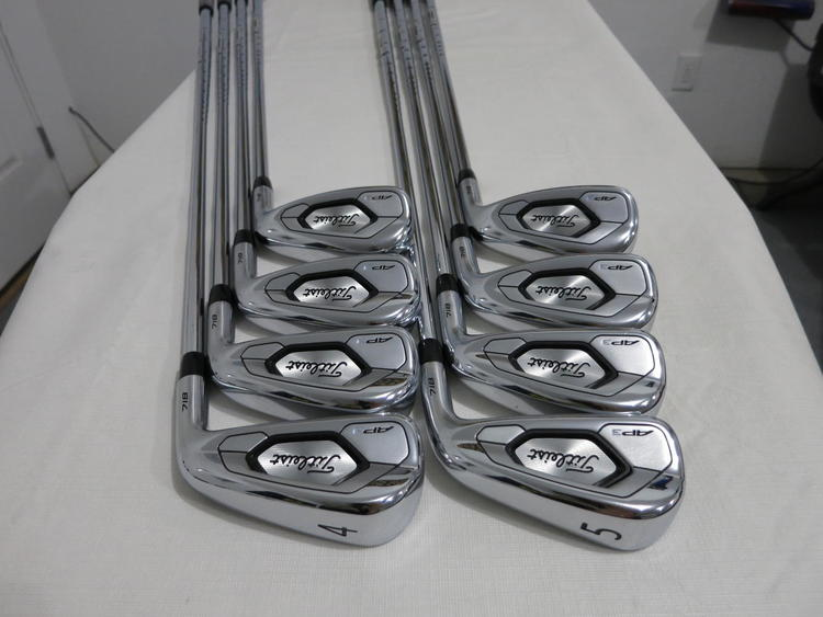 Titleist 718 AP3 Iron Set 718AP3 - 4-PW, AW - AMT Black R300 Regular Flex  Steel