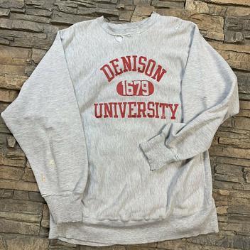 f475cbad VTG Denison University Reverse Weave Crewneck Champion Sweatshirt 90s Mens  XL