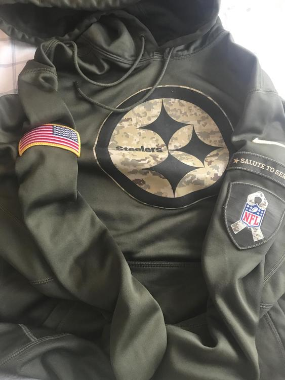 wholesale dealer 9eac4 4a6c1 Steelers Salute To Service Sweatshirt Medium