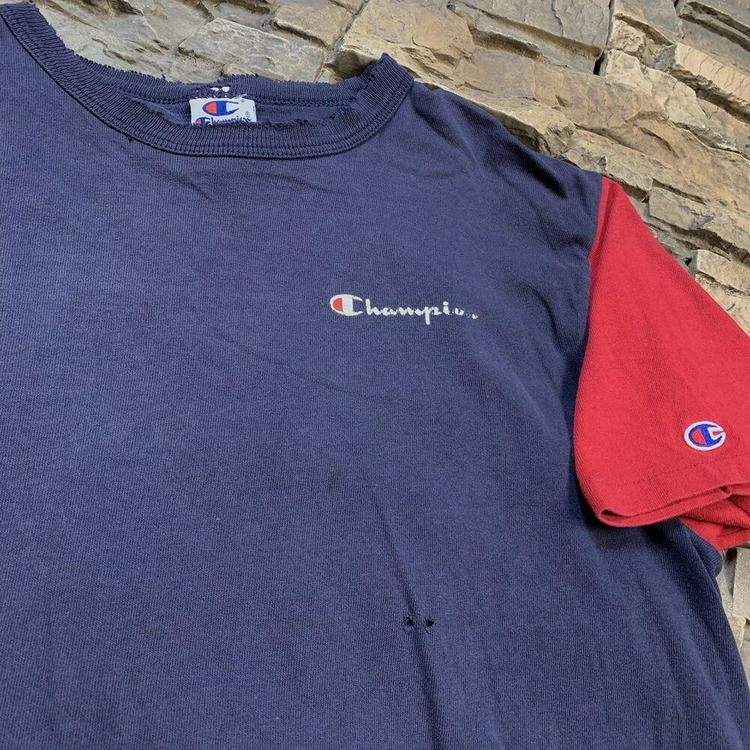 6e9bf26e ... Champion T Shirt 90s Navy Blue Red Tee Mens Medium. Related Items