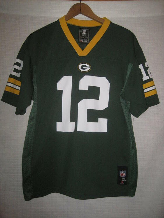 check out 33939 3664c Green Bay Packers Aaron Rodgers Football Jersey kids boys XL 18/20