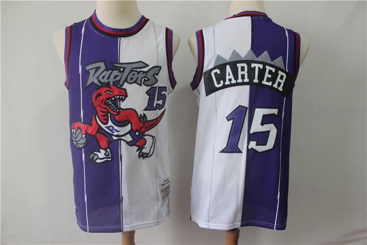 wholesale dealer 30d88 ddd43 Mens Youth Toronto Raptors #15 Carter Fully Stitched NBA Jersey Wholesale  Customize & Sublimation
