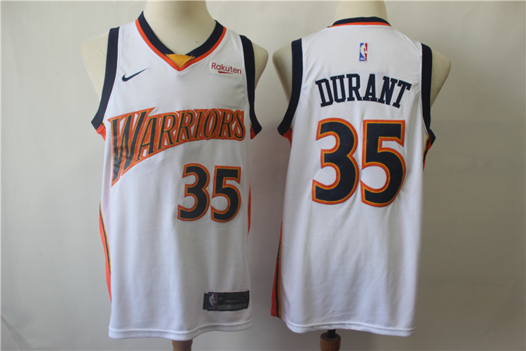 on sale d85de ea079 NWT Mens Youth Warriors #35 Durant Fully Stitched NBA Jersey Wholesale  Customize & Sublimation
